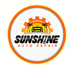 sunshine auto repair button logo