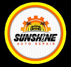 sunshine auto repair button logo